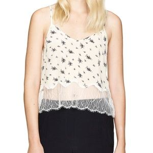 WILFRED (ARITZIA) Chimere Silk Cropped Camisole